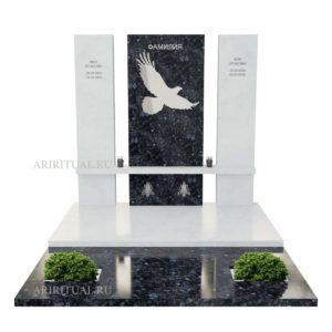 Дизайнерский памятник комплекс с рисунком птицы