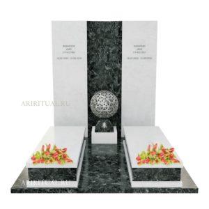 Элитный памятник с чашей для свечи