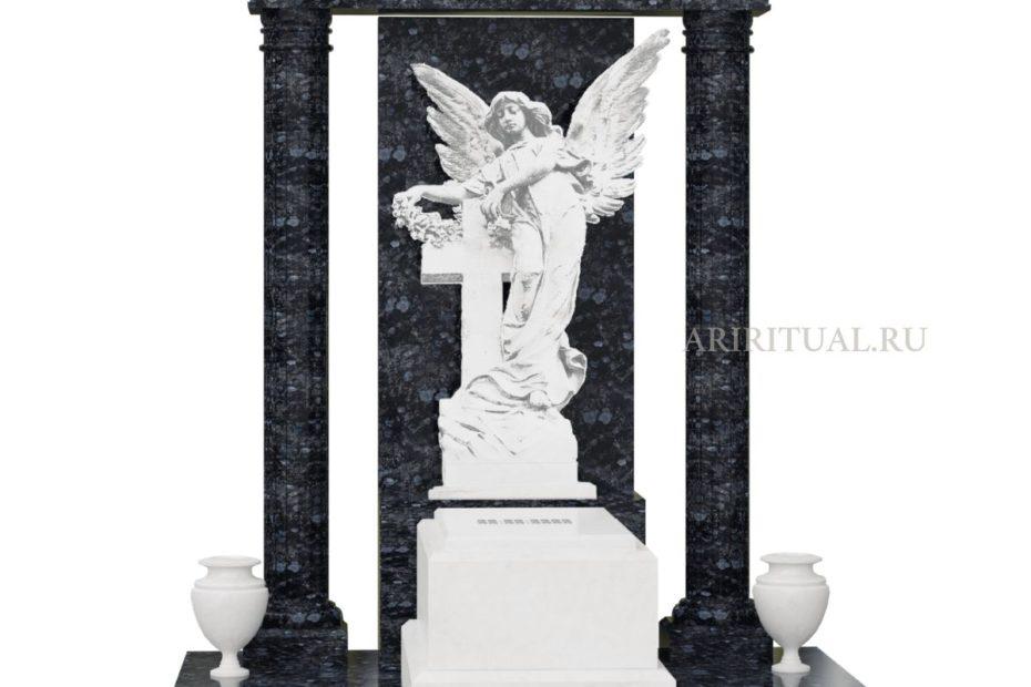 Женский памятник со скульптурой ангела