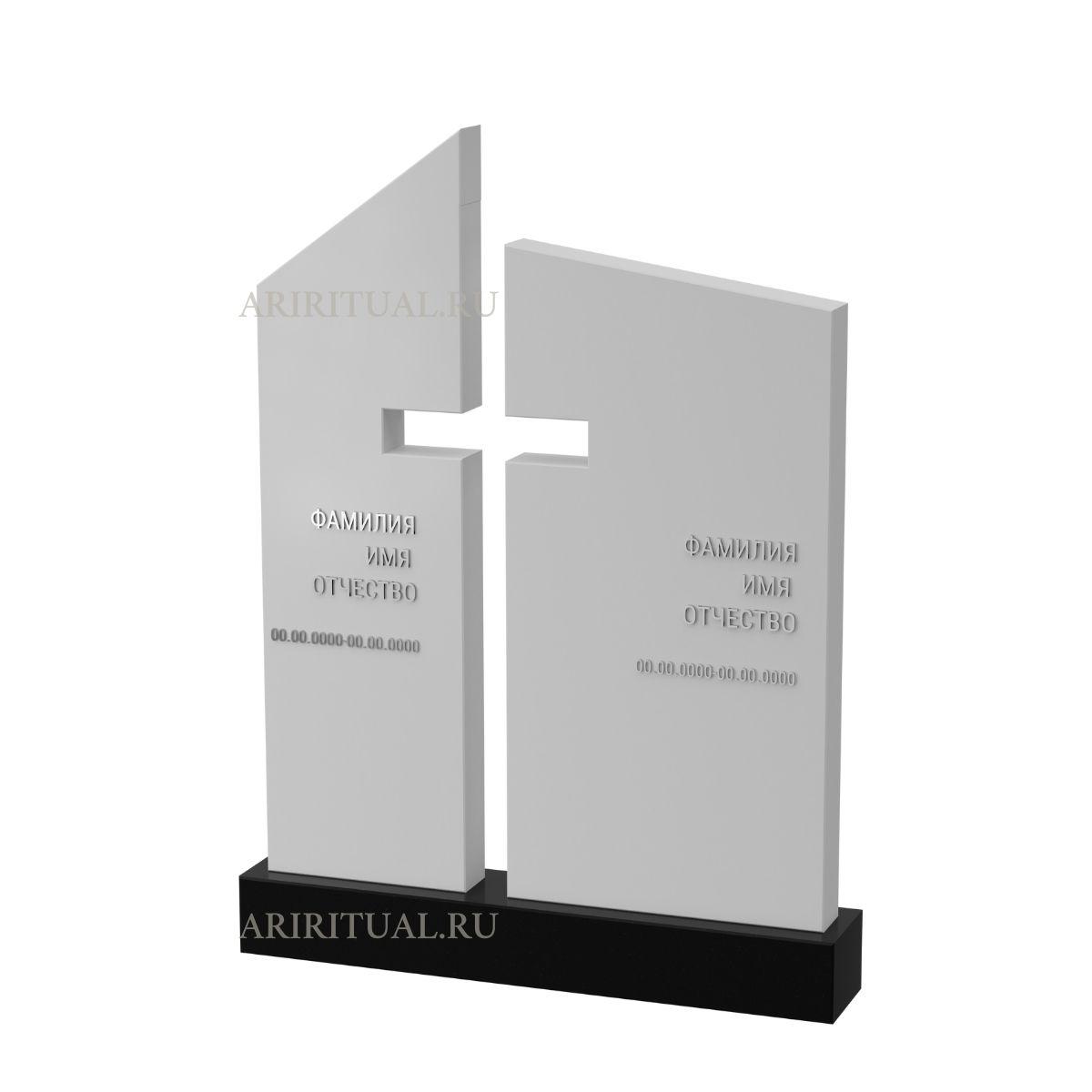 памятник с крестом в воздухе