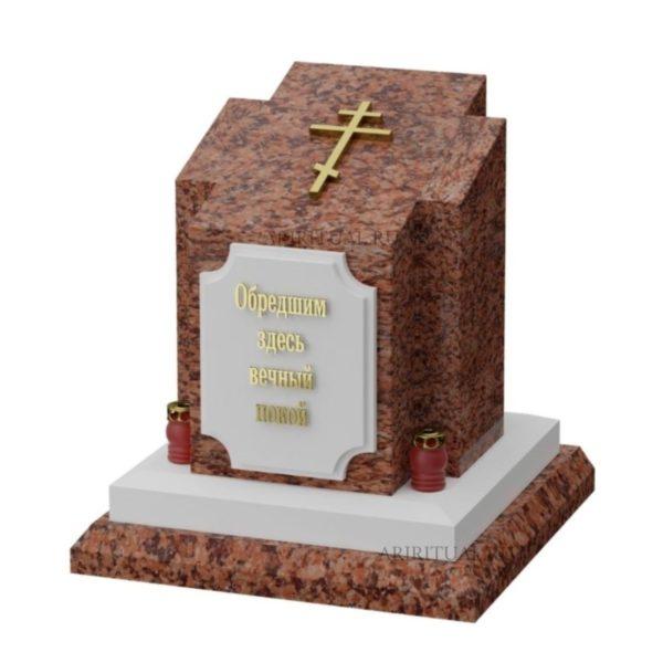 Памятник военному в форме креста
