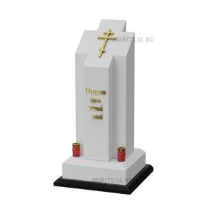 Монумент в форме белого креста