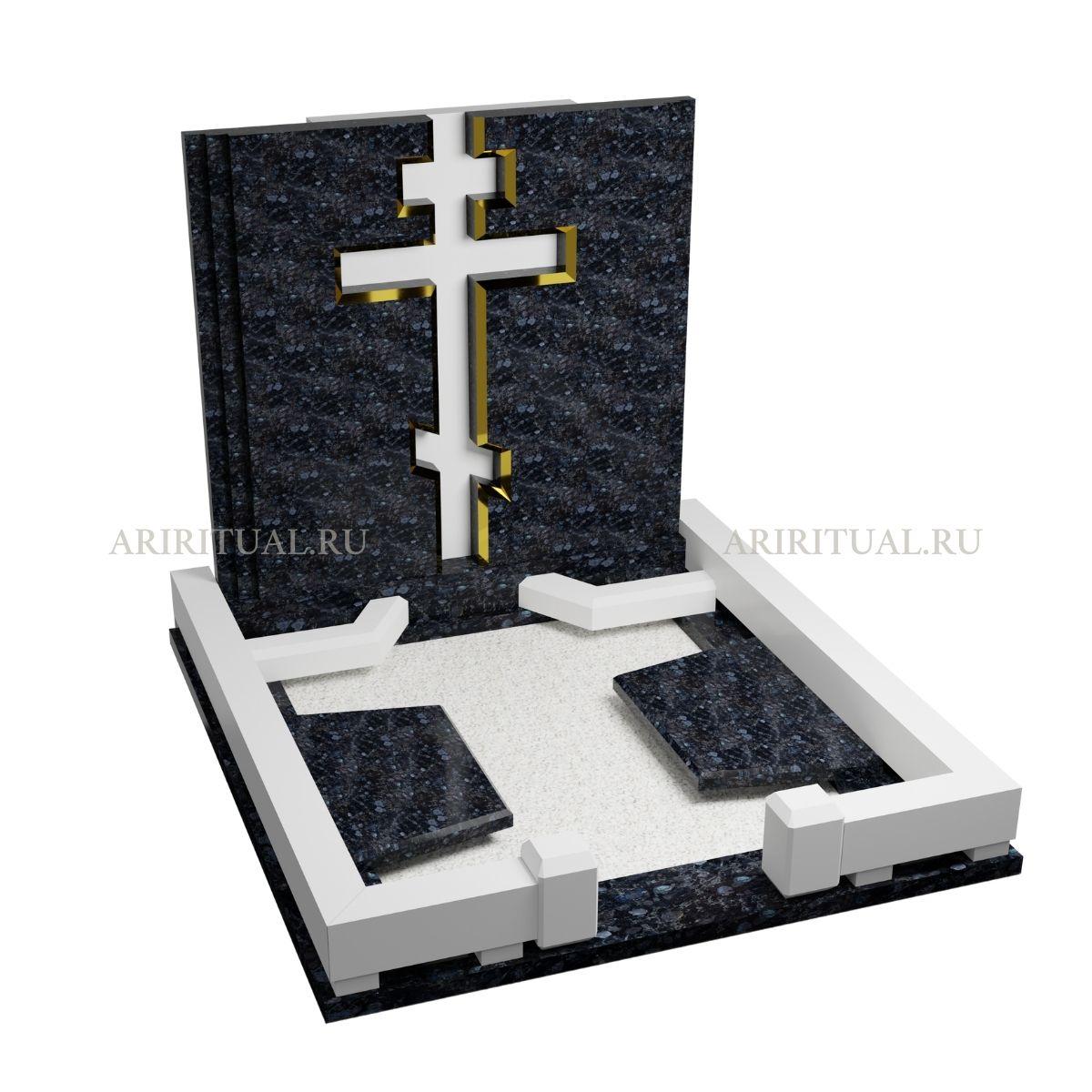 образцы памятников на могилу с крестом 0422